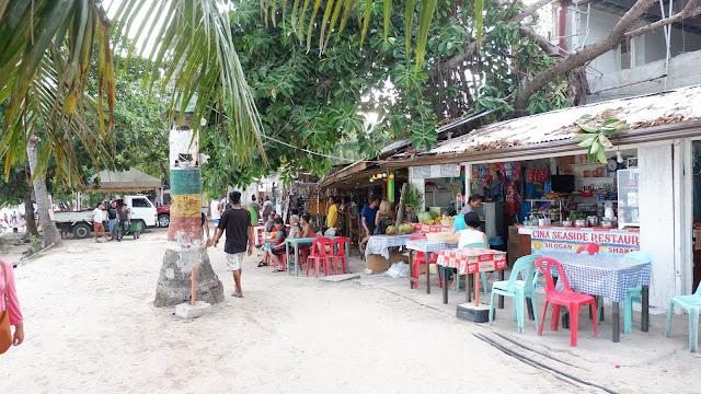 shops along alona beach bohol