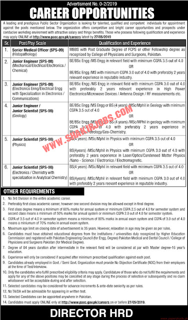 PAEC Jobs 2019 Apply Online for Junior Engineers, Junior Scientists & Medical Officer Latest