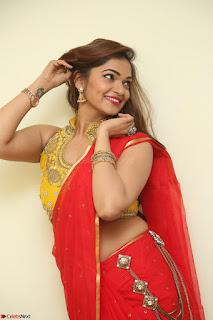 Actress Ashwini in Golden choli Red saree Spicy Pics ~  040.JPG