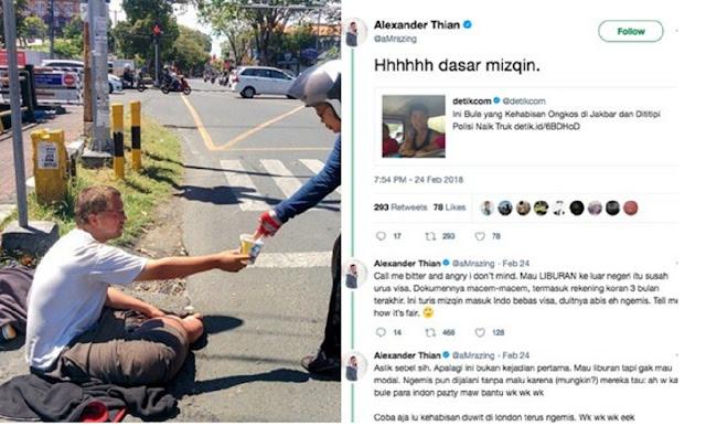 Bule Ngemis di Indonesia Makin Marak, Tapi Malah Diistimewakan. Warganet: Orang Kita Terlalu Norak Ketemu Bule