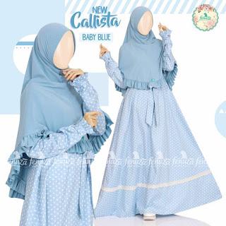 Gamis Fenuza Callista Baby Blue