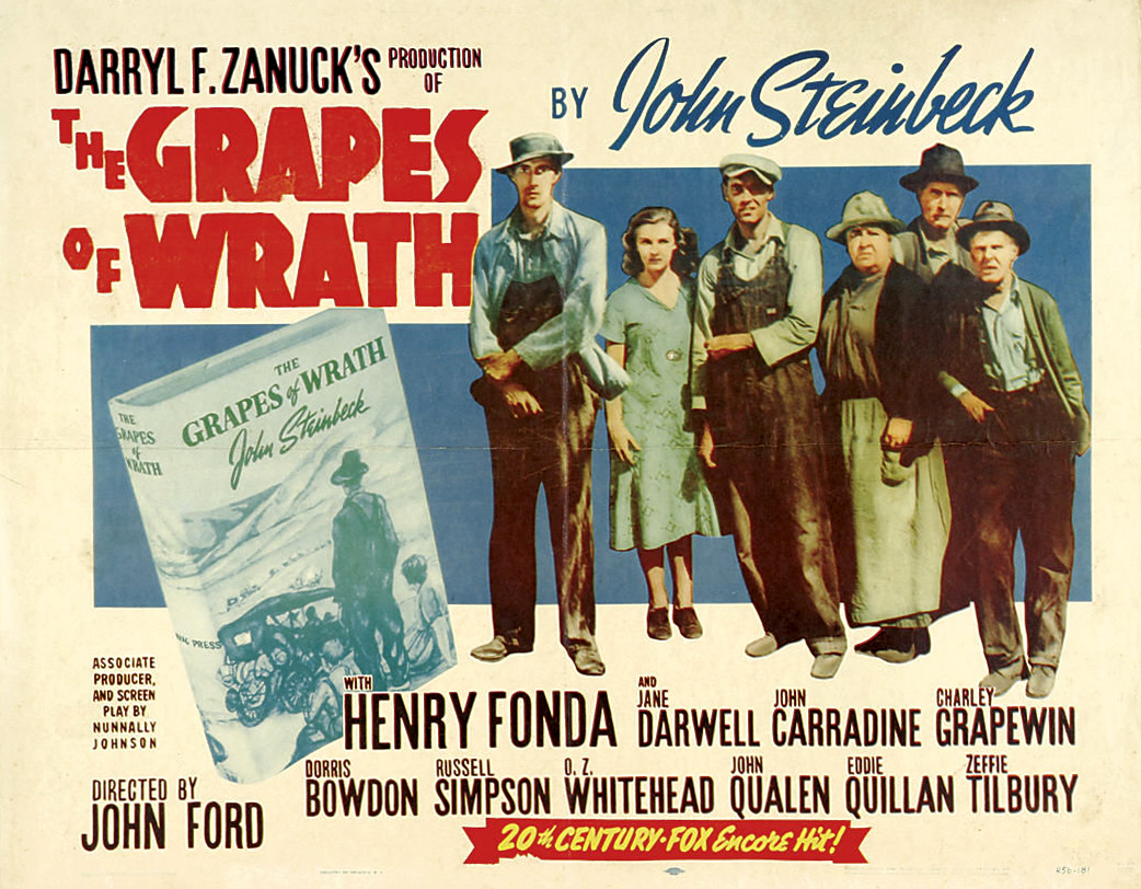 a film report of the grapes of wrath Exclusive: dreamworks is in talks with the estate of author john steinbeck to make a new version of the grapes of wrath the novel was turned into a classic 1940 film by john ford, the director who won one of two oscars out of the seven nominations the picture received i'd heard this suddenly.