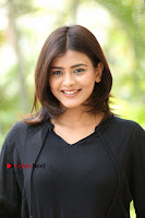 Actress Hebah Patel Stills in Black Mini Dress at Angel Movie Teaser Launch  0118.JPG