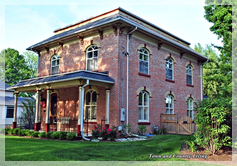 More historic homes in sycamore illinois town country for Brick victorian house