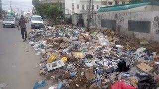 CBD residents complain about the garbage thrown in the CBD.