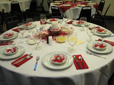 decoration pour la table de saint valentin