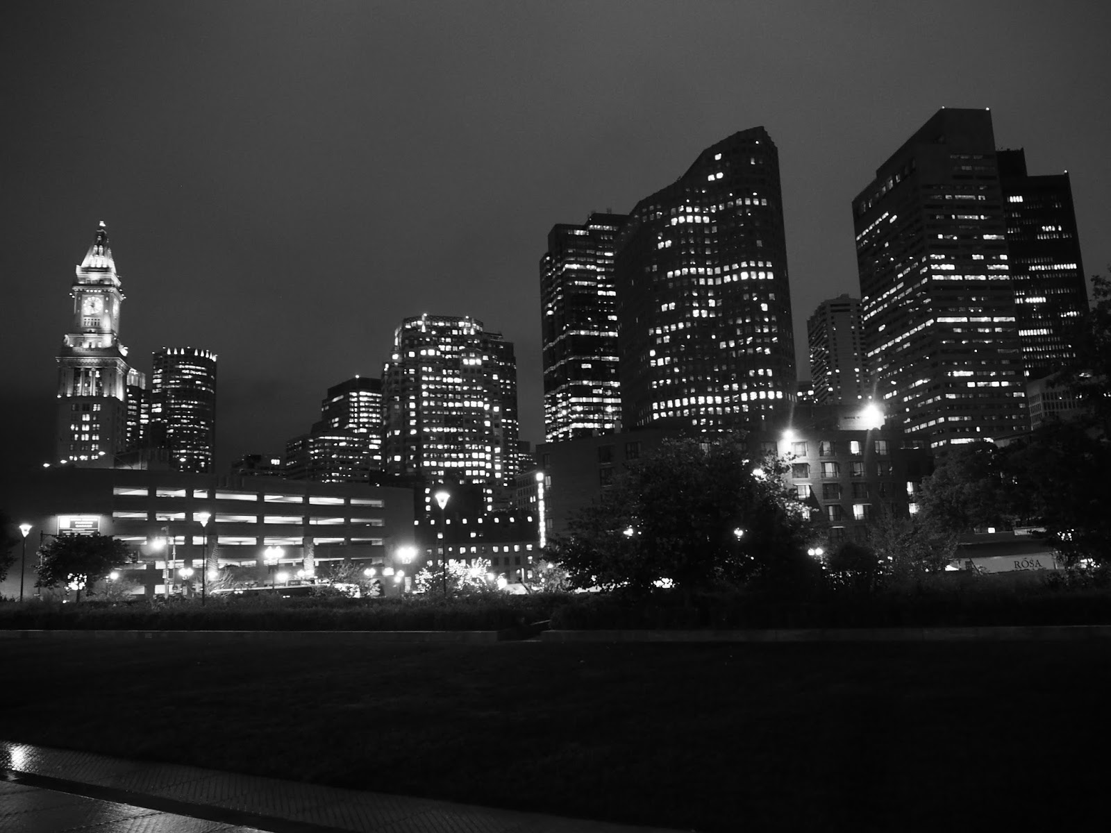 Boston skyline at night - how to spend 36 hours in Boston
