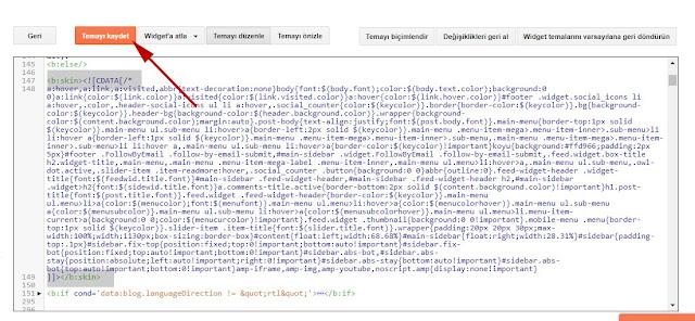 Sıkıştırılmış CSS kodlarının temaya eklenmesi