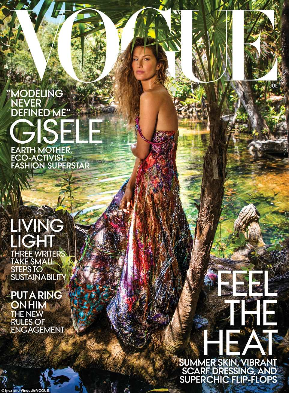 Gisele Bundchen mesmerises for Vogue US July 2018