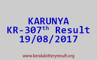 KARUNYA Lottery KR 307 Results 19-8-2017