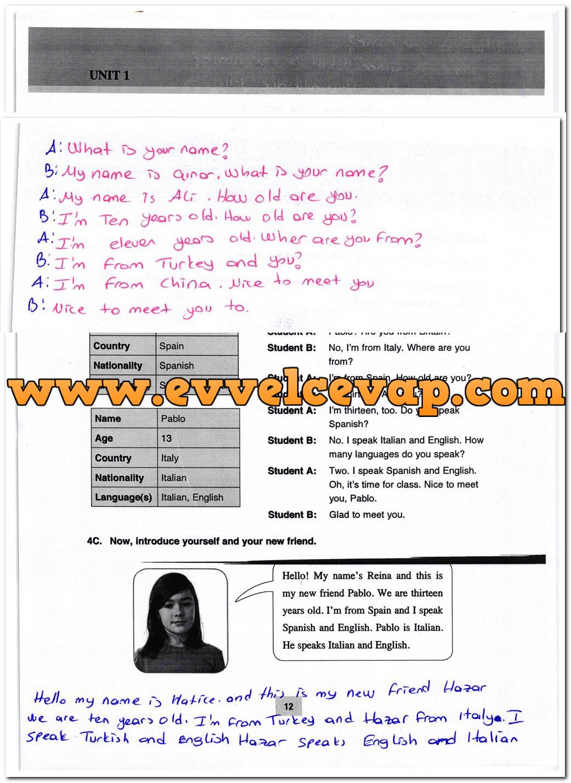 5. Sınıf Özgün Yayınları İngilizce 12. Sayfa Cevapları