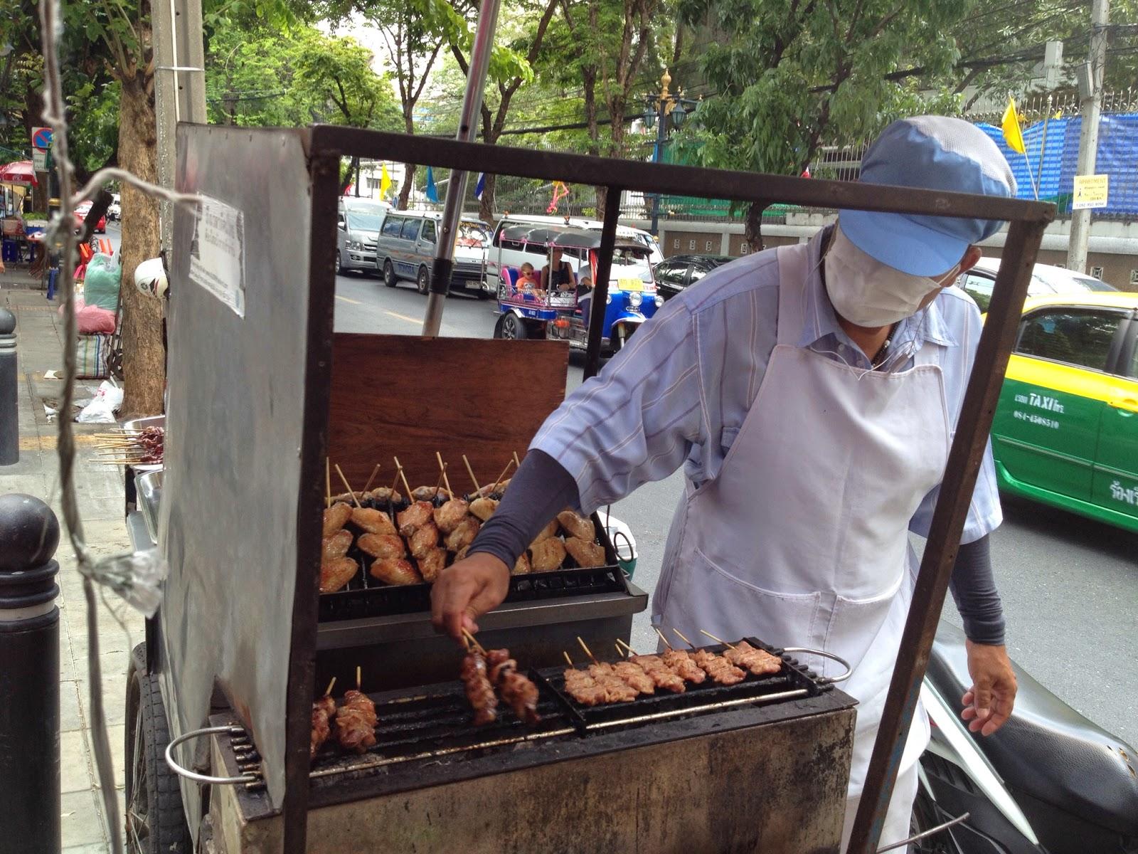 Bangkok - Grilled meat cart