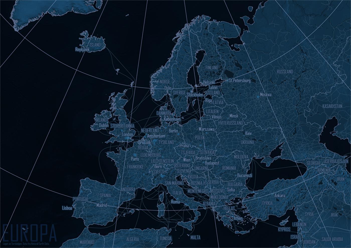 Kart Og Grafer Om Alt Europa Kart Med Blakopi Spiontema