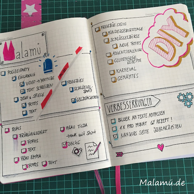 Blogthemen im Bullet Journal
