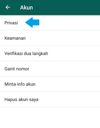 Setting Privasi