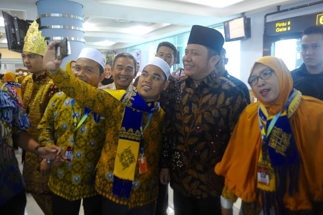 Gubernur Sumsel Herman Deru Buka Resmi Penerbangan Palembang - Jeddah
