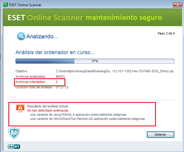 remove browser hijackers eset nod32