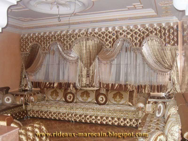confection rideaux salon marocain