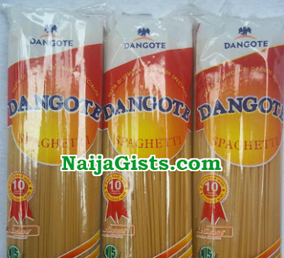 homeless man steals dangote spagetti