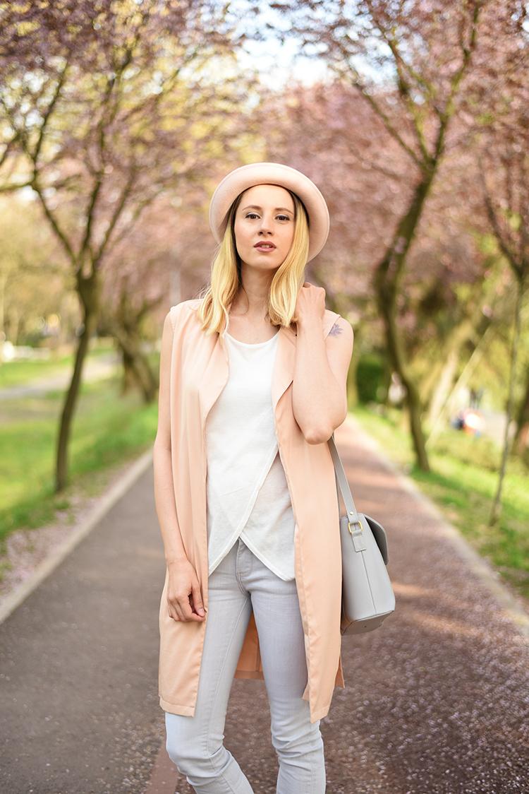 rose quartz hat vest spring