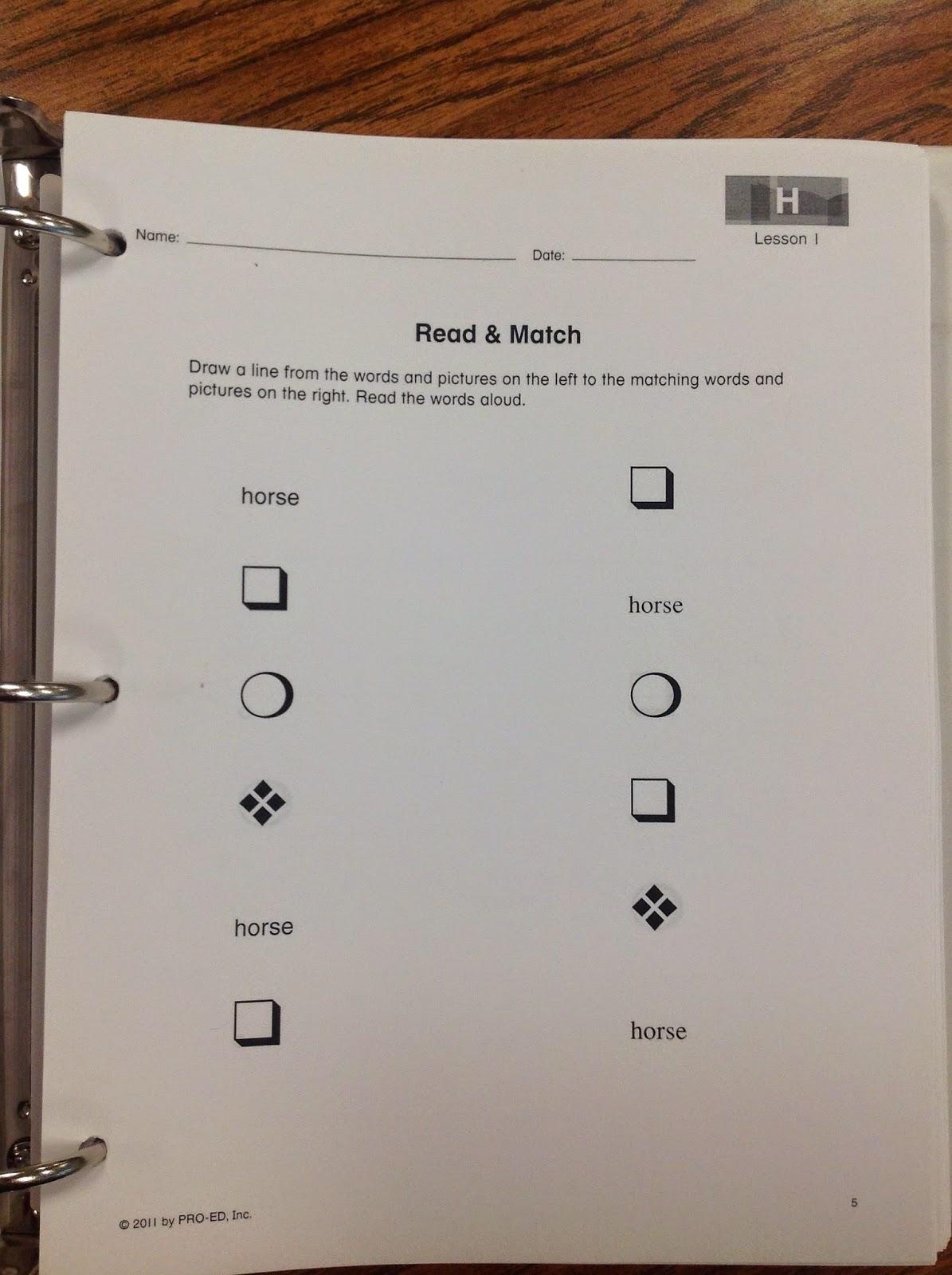 Teach Child How To Read Edmark Reading Program Worksheets