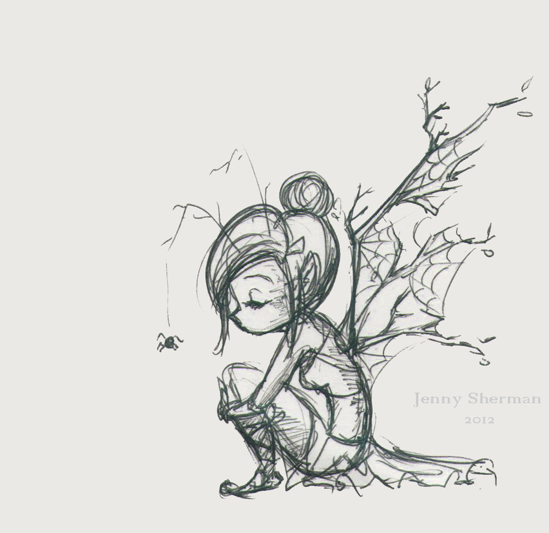 Squash 'n Sketch: Branch Fairy : Jenny Sherman
