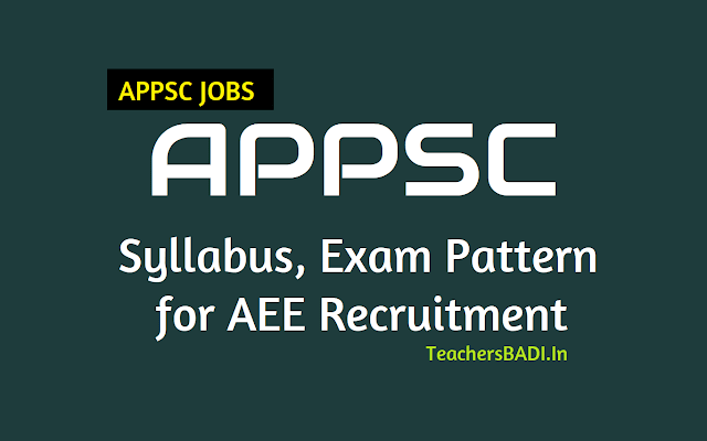 syllabus,exam pattern and instructions for appsc aee assistant executive engineers recruitment,aee recruitment syllabus,paper i,paper ii,paper iii syllabus