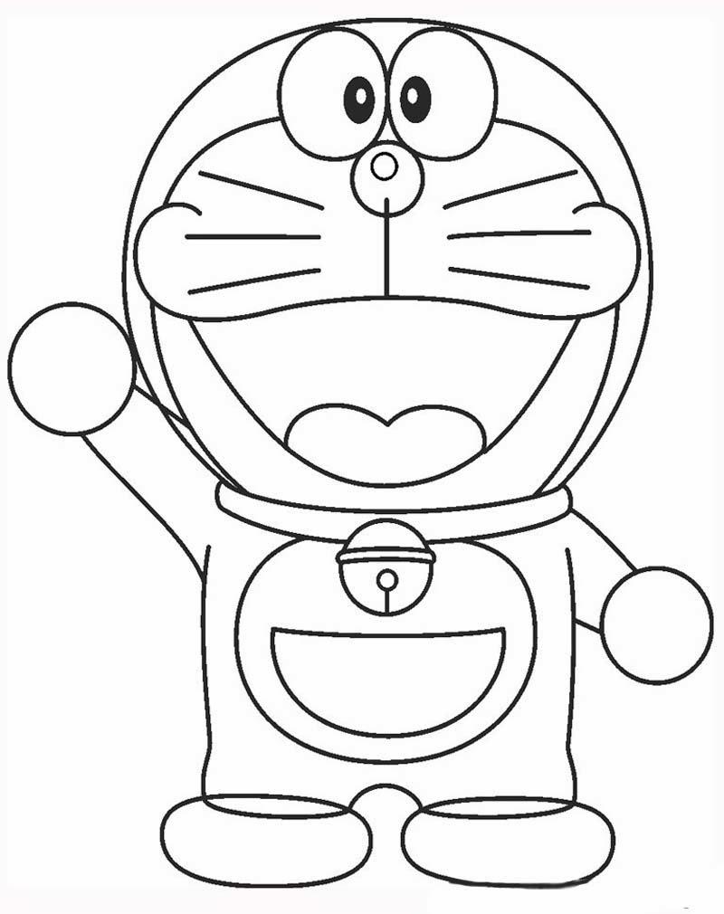 Cara Membuat Gambar Ilustrasi Kartun Doraemon