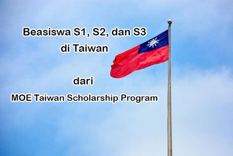 Beasiswa Taiwan 2020 dari MOE Taiwan