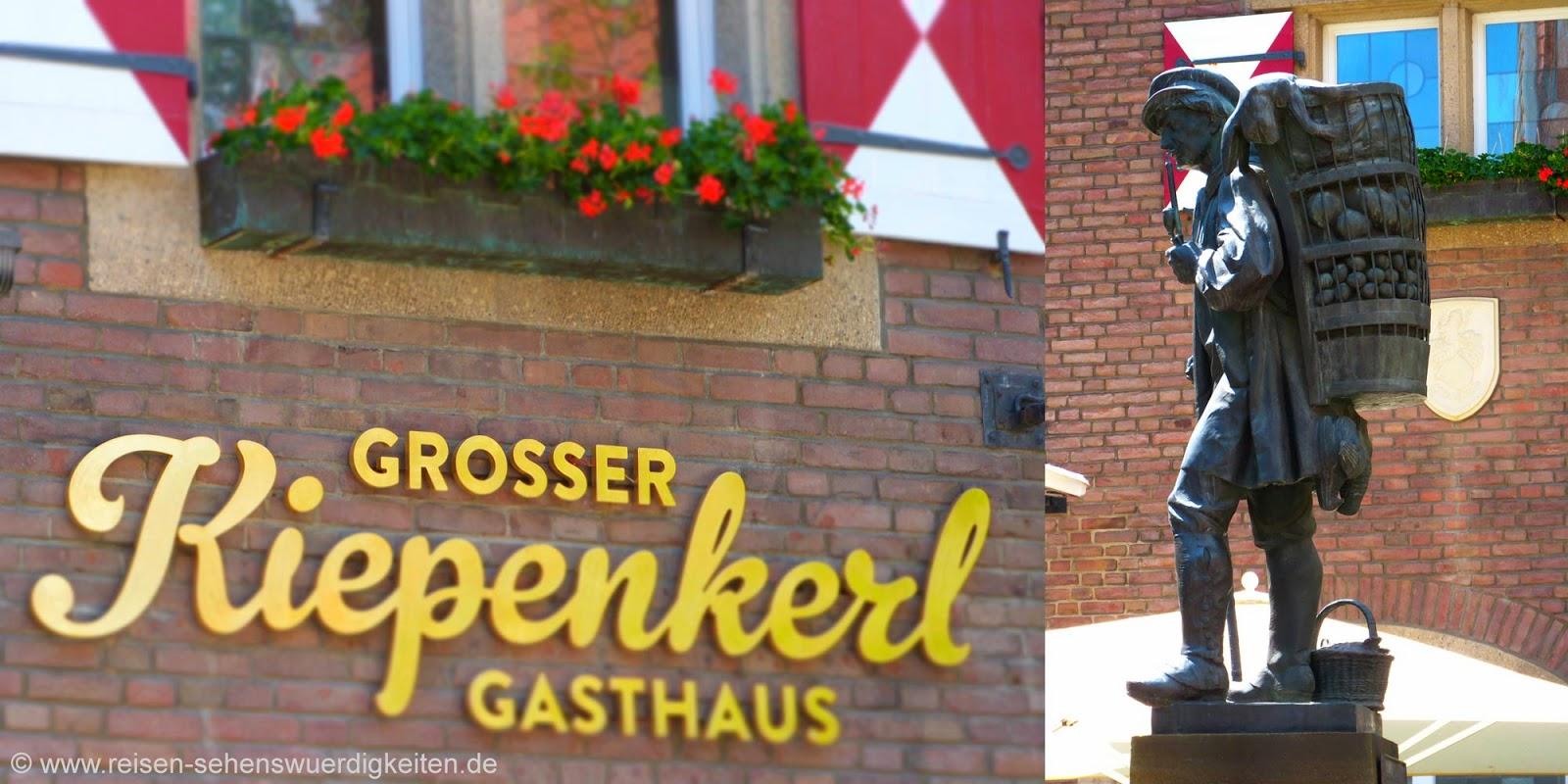 Gasthaus Grosser Kiepenkerl in Münster, Statue Kiepenkerl