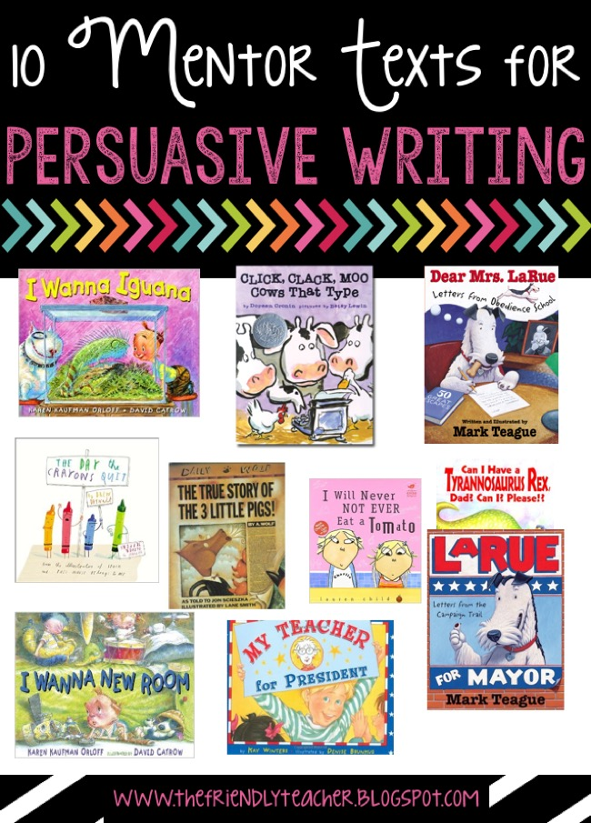 mentor texts for persuasive writing Teen mentor texts to accompany our free lesson plans and writing prompts  below you will find student mentor text essays that corresponds to some of our  past.