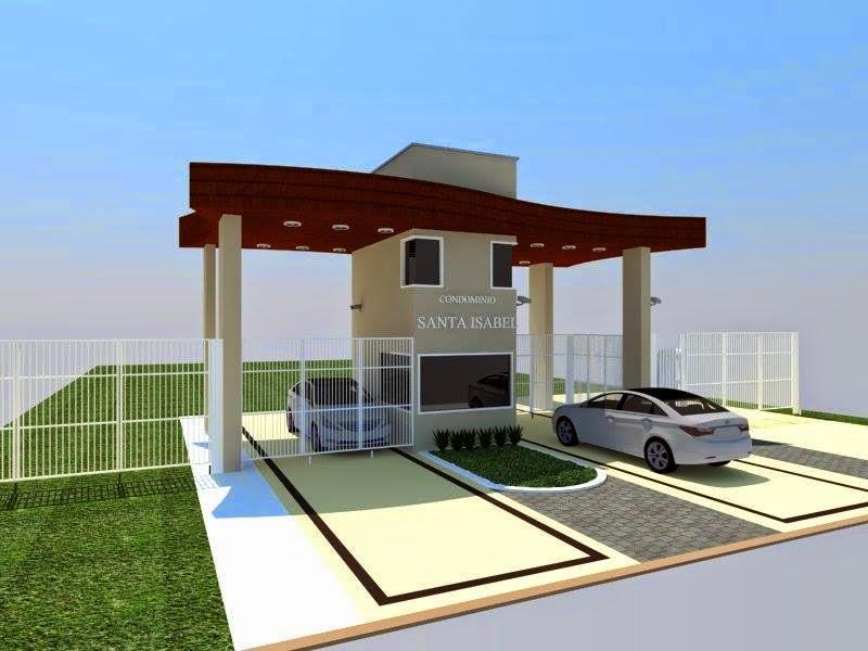 O modelo libera entradas e saídas, sem a necessidade de um porteiro no prédio. Arquitetura Igarata Portaria Condominio Santa Isabel