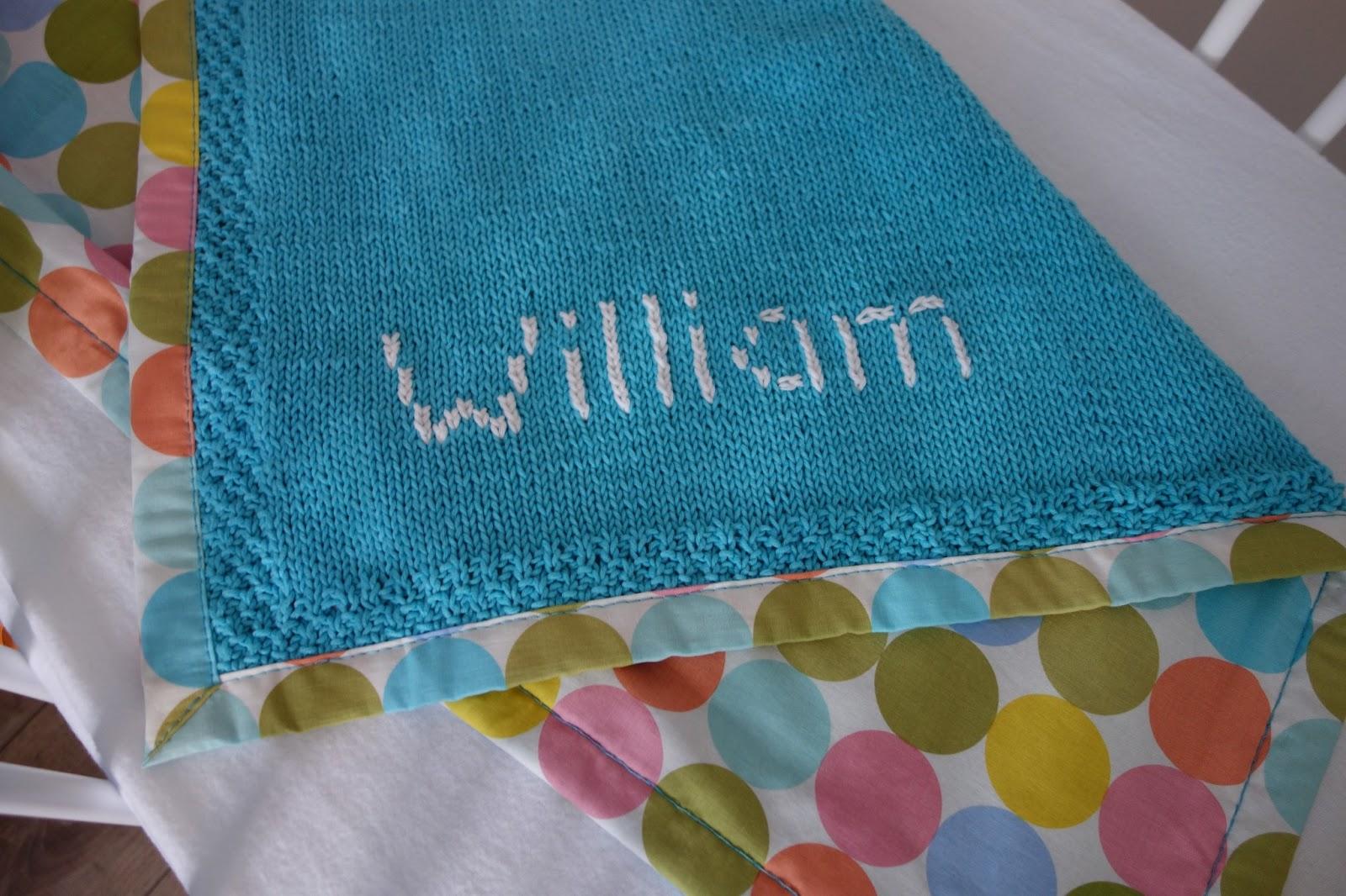 l u0026 39 atelier de gwen  tricot b u00e9b u00e9   comment broder un pr u00e9nom sur une couverture tricot u00e9e