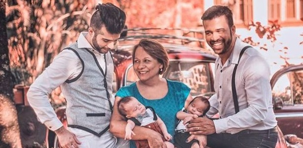 Mãe 'empresta' barriga para filho e marido dele terem gêmeos em no interior de SP