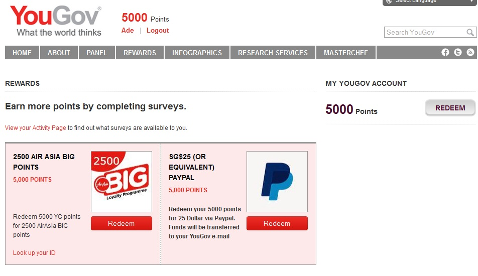 Komisi 1000 Dollar per day Cuma- cuma dari YUGOV Gratis maknyus