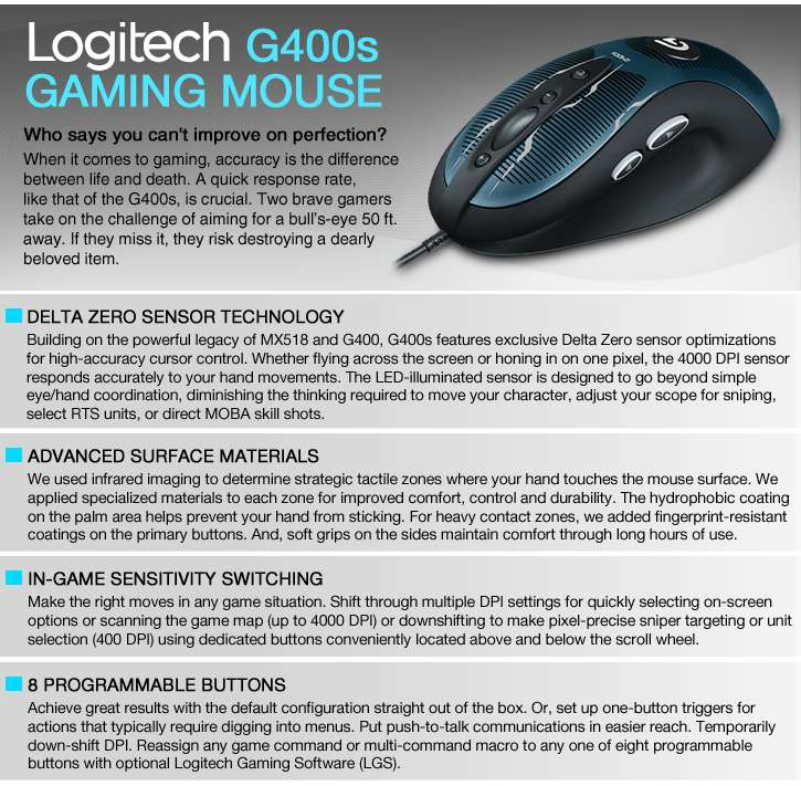 662e00a06d1 Full Review Logitech G400S Optical Gaming Mouse 2016   INFO PC