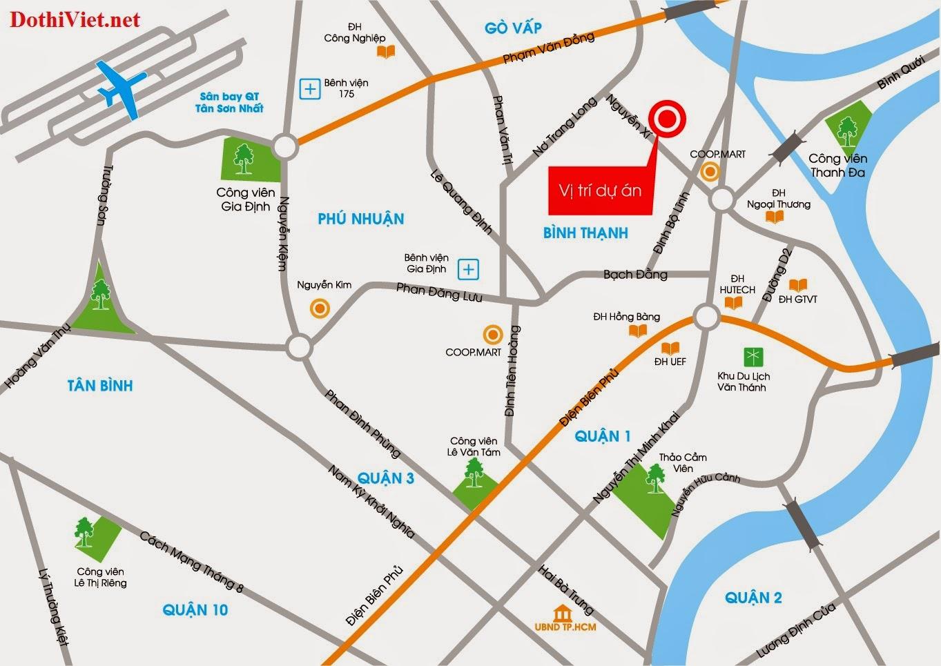 vi tri can ho Saigonres Plaza Nguyen Xi quan Binh Thanh