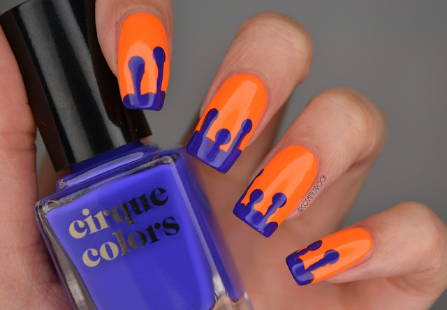 Cirque Colors Vice Summer 2017 Drip Nail Art