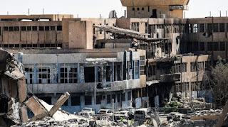 barbaric bombings in Raqqa