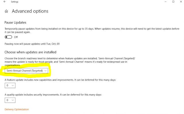 كيفية منع التحديث إلى Windows 10 الإصدار 1809