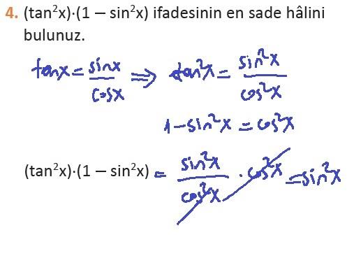 11. Sınıf MEB Yayınları Matematik 44. Sayfa Cevapları