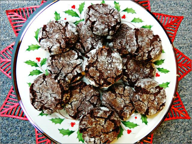 Galletas Crinkles de Chocolate y Coco