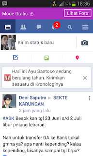 Facebookan Gratis Dari XL Axiata,Mau?