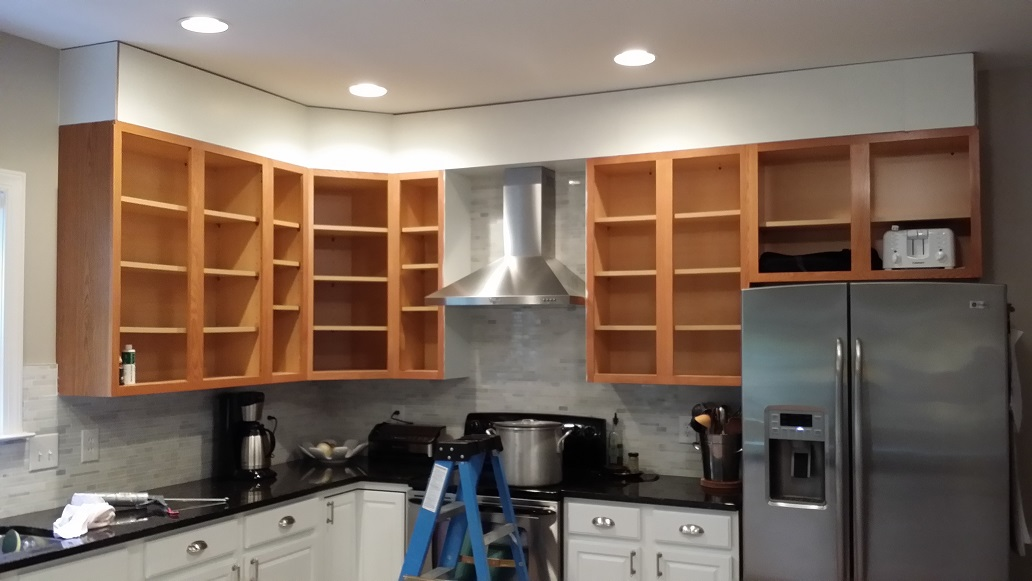 Just The Right Size Kitchen Upgrade Status Closing In The Space Above Your Cabinets