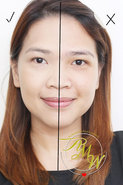 before and after photo using Maybelline Dream Velvet Soft Matte Hydrating Foundation Natural Beige