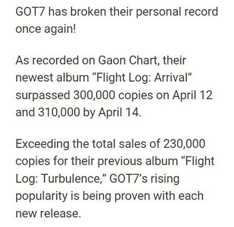Asian Stars: (News) GOT7 Pecahkan Rekor Penjualan Album