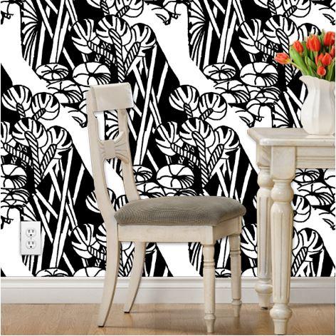 Zen Jungle Doodle Wallpaper by eSheep Designs