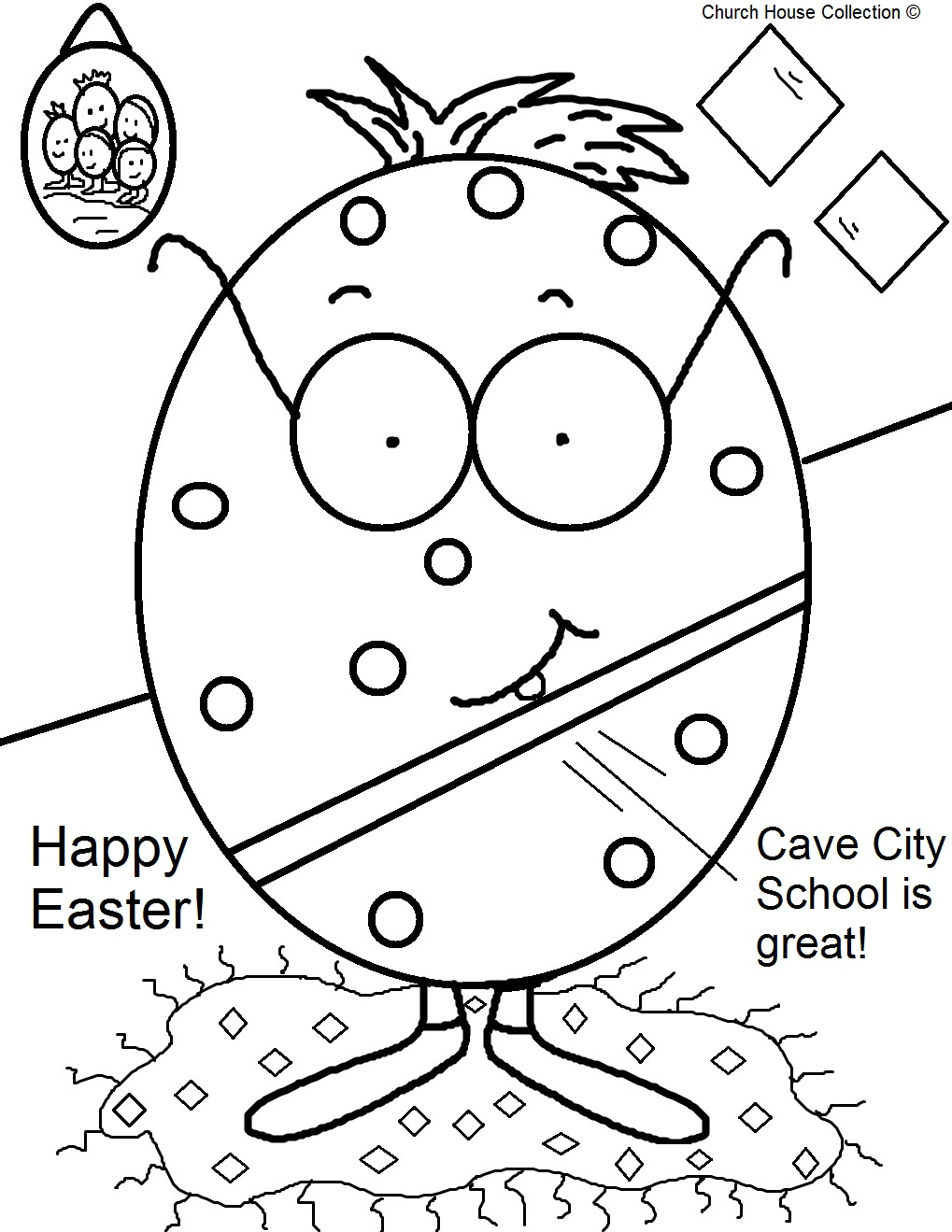 Church House Collection Blog Cave City School Easter Egg Coloring Pages