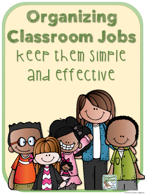 You'll love this simple and effective way to organize and manage your classroom jobs.  Simple and Effective!  Free download from Hello Sunshine blog.