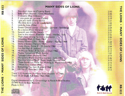 The Lions - Many Sides Of Lions (1965)